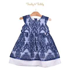 Trudy & Teddy Toddler Girl Short Sleeve Dress - Blue 815153-312 : Buy Trudy & Teddy online at CMG.MY