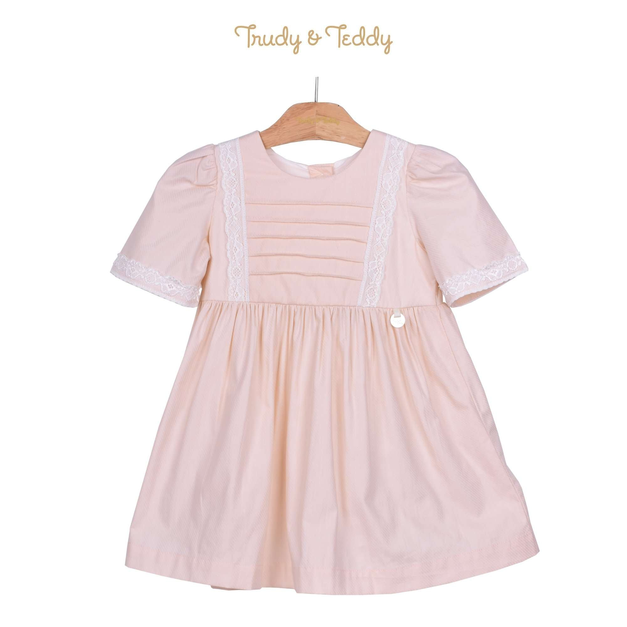 Trudy & Teddy Toddler Girl Short Sleeve Dress - Light Peach 815140-311 : Buy Trudy & Teddy online at CMG.MY