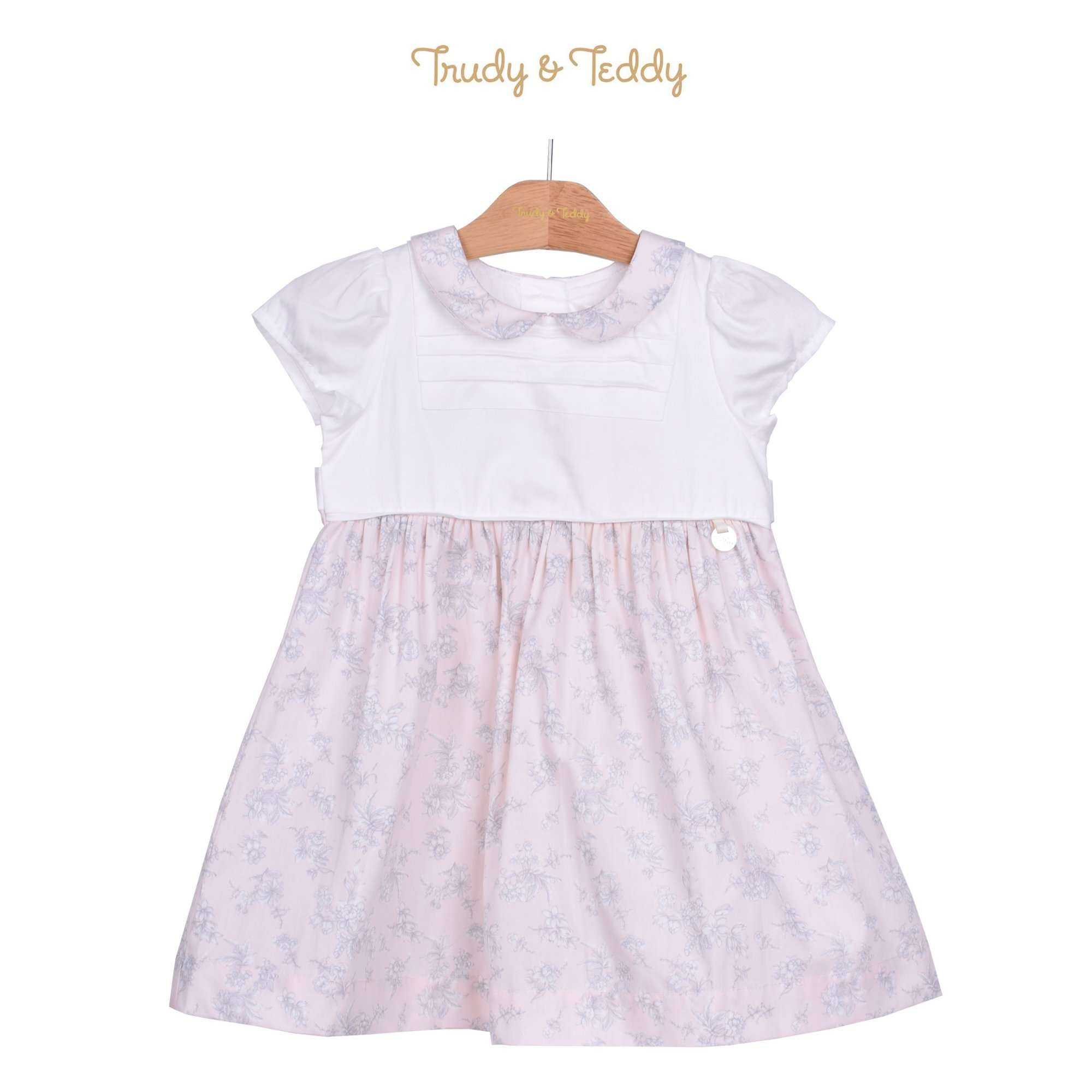 Trudy & Teddy Toddler Girl Short Sleeve Dress - Light Peach 815144-312 : Buy Trudy & Teddy online at CMG.MY