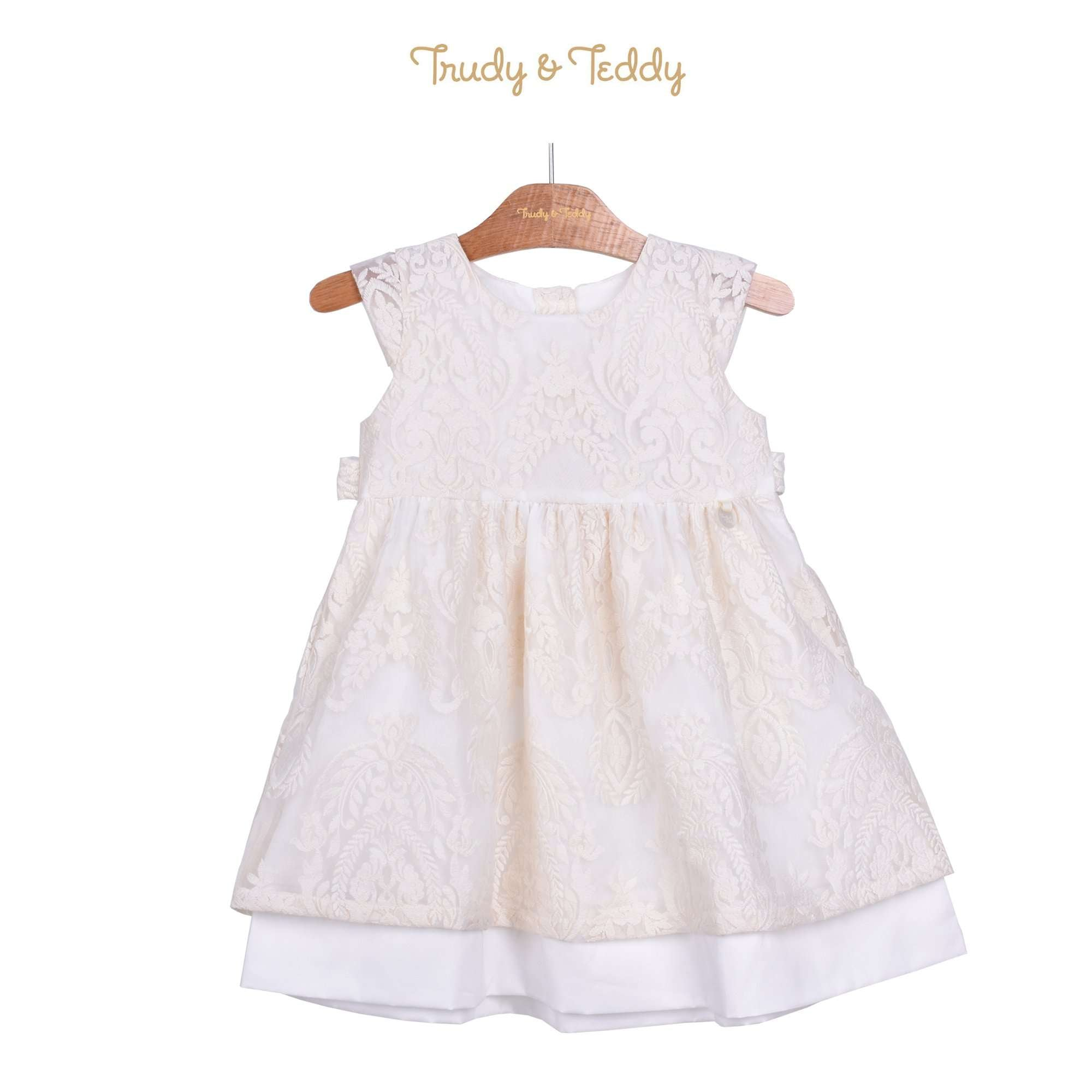 Trudy & Teddy Toddler Girl Short Sleeve Dress - Off White 815153-311 : Buy Trudy & Teddy online at CMG.MY