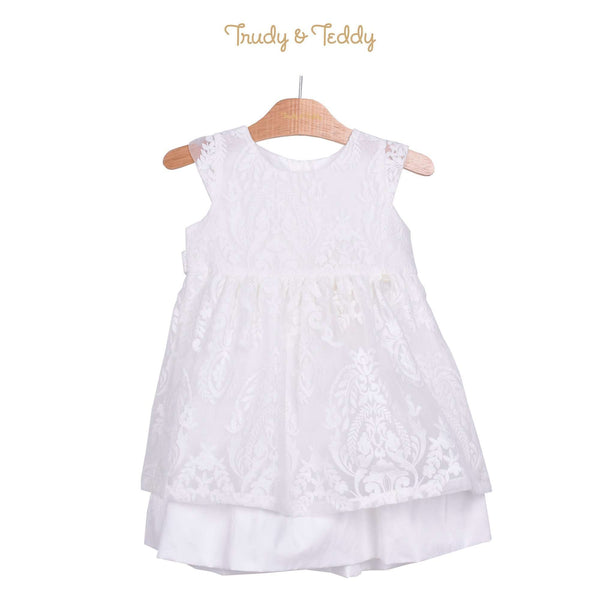 Trudy & Teddy Toddler Girl Short Sleeve Dress - White 815153-313 : Buy Trudy & Teddy online at CMG.MY
