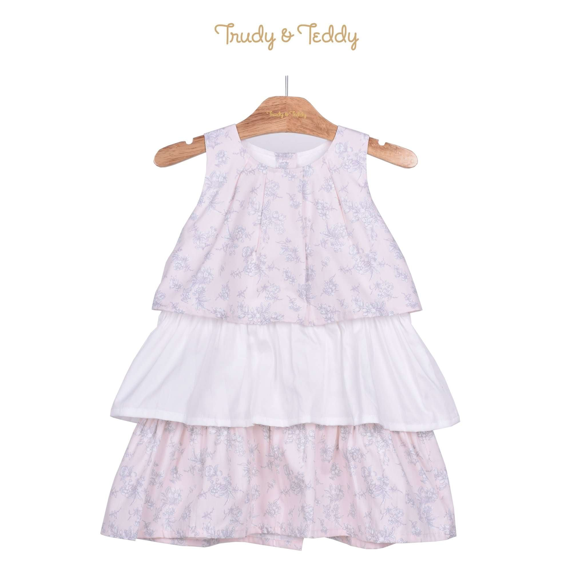 Trudy & Teddy Toddler Girl Sleeveless Dress - Light Pink 815144-311 : Buy Trudy & Teddy online at CMG.MY