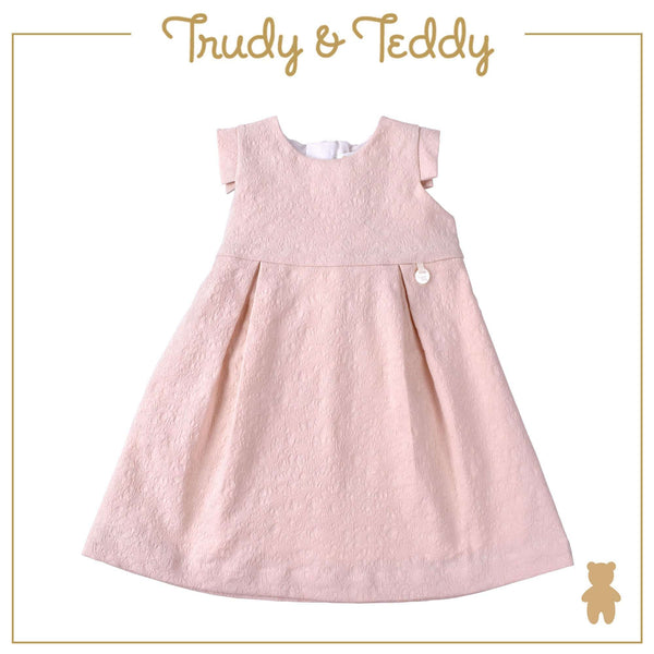 Trudy & Teddy Toddler Girl Woven Short Sleeve Dress- Peach 815173-312 : Buy Trudy & Teddy online at CMG.MY