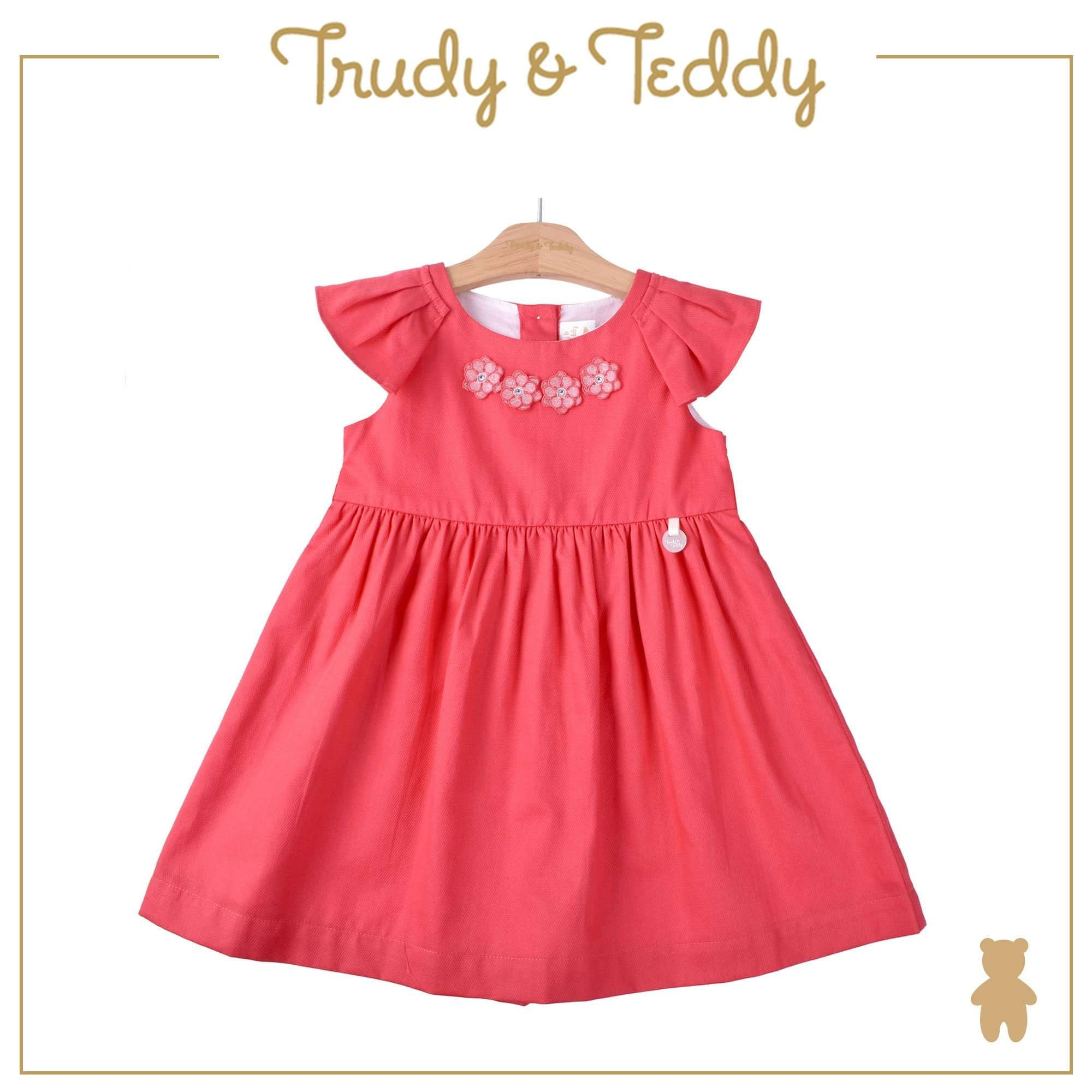 Trudy & Teddy Toddler Girl Woven Short Sleeve Dress- Red 815164-311 : Buy Trudy & Teddy online at CMG.MY