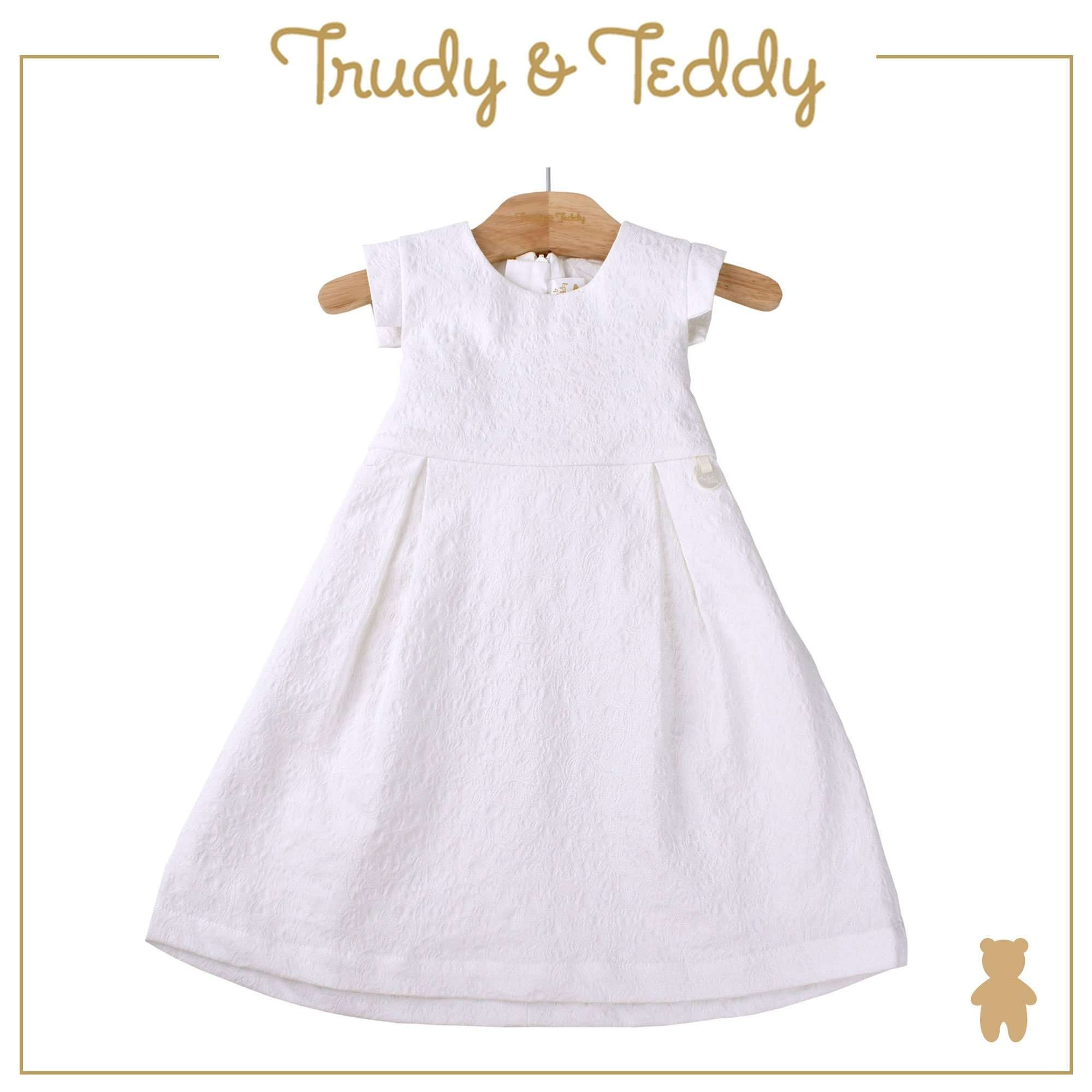 Trudy & Teddy Toddler Girl Woven Short Sleeve Dress- White 815173-311 : Buy Trudy & Teddy online at CMG.MY