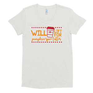 Women's Crew Neck Pumpkin Spice Late Shirt