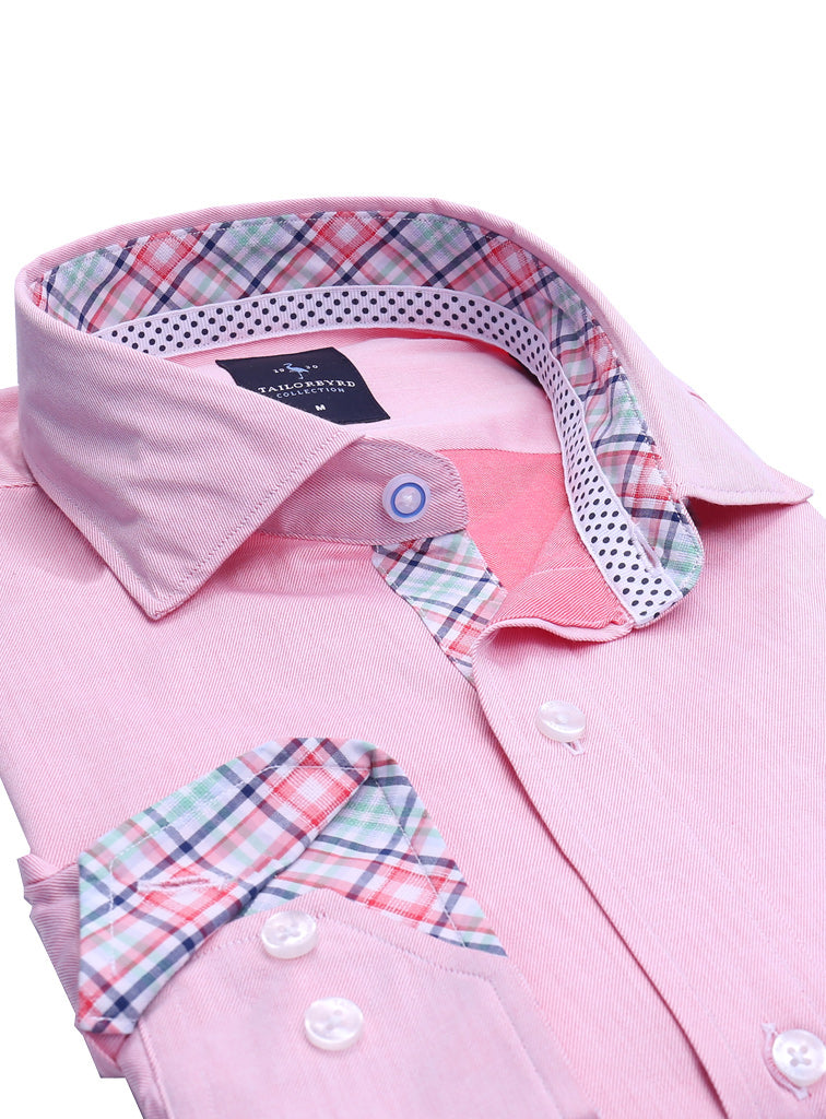 Coral Solid Button-Down Shirt