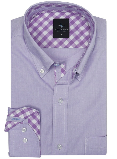 5b8c1e6a Wisteria Solid Big and Tall Button-Down Shirt