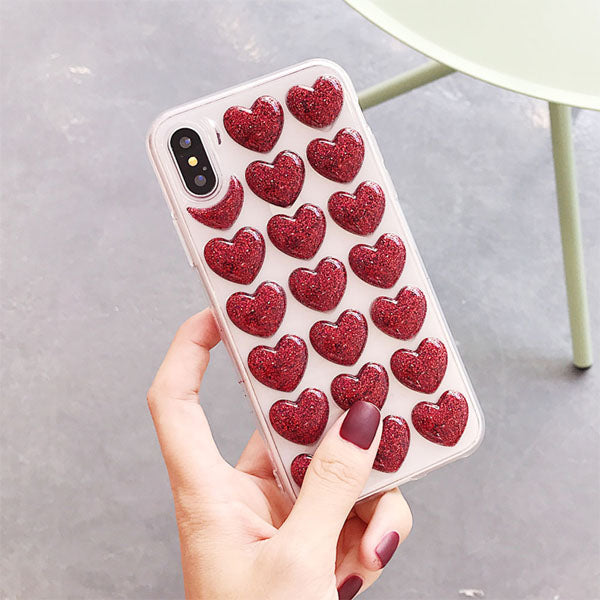 Bubble Heart Case for iPhone X