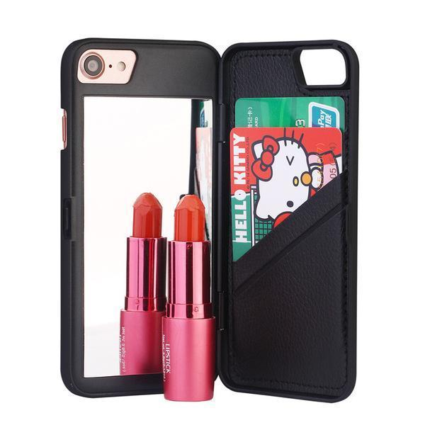 Case with Hidden Mirror And Wallet for iPhone 5/ 5s