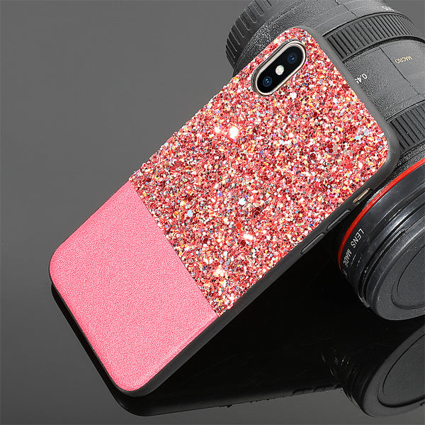 Two-Tone Glitter Case for iPhone X