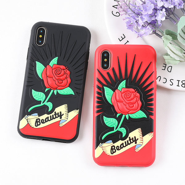 3D Rose Case for iPhone X