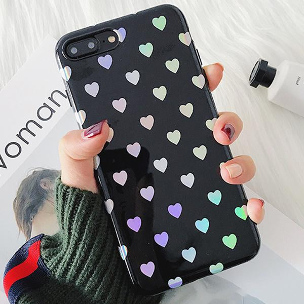 Love Me Rainbow Heart Case for iPhone 7/7 Plus