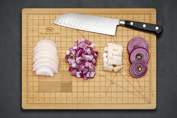 The Obsessive Chef Bamboo Cutting Board