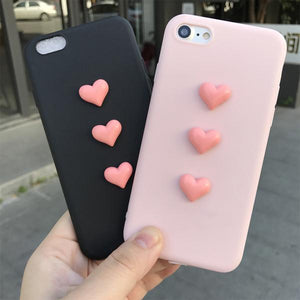 Jelly Heart Case for iPhone 7/7 Plus