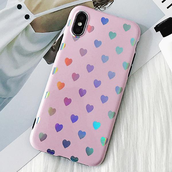 Love Me Rainbow Heart Case for iPhone 8/8 Plus