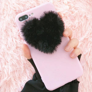 Fluffy Heart Case iPhone 6/6s & 6 Plus/6s Plus