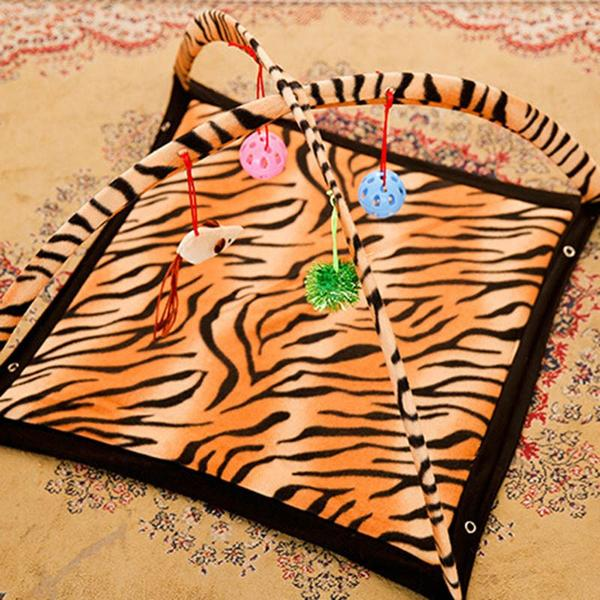 Cat Bed Pad Blanket With Cat Toys
