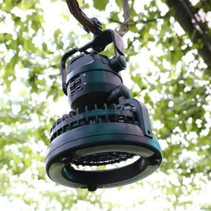 2-in-1 Super Bright Outdoor Lamp with Portable Fan