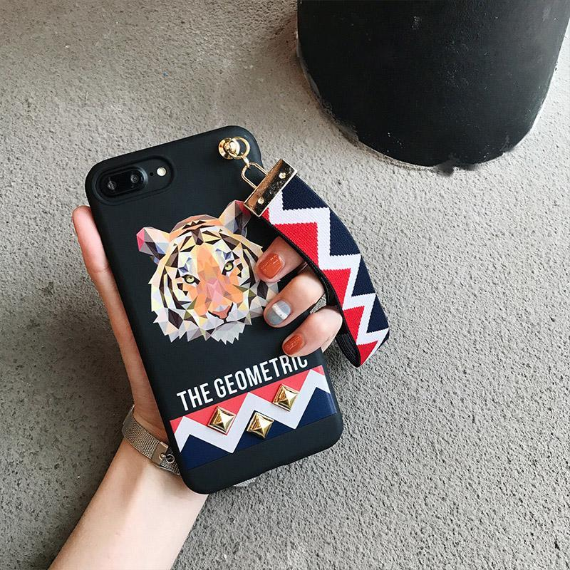 Geometric Animal IPhone Case for iPhone X - With Wrist Strap!