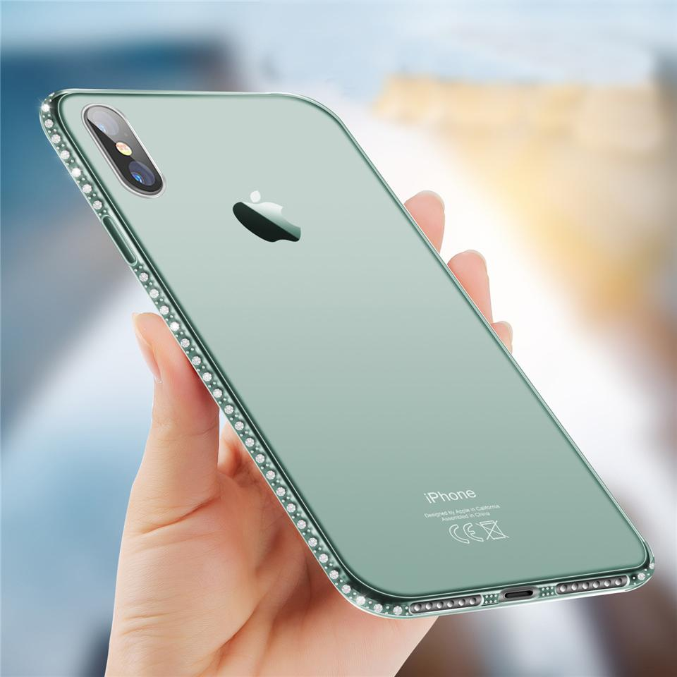 Crystal Clear Diamond Case for iPhone X