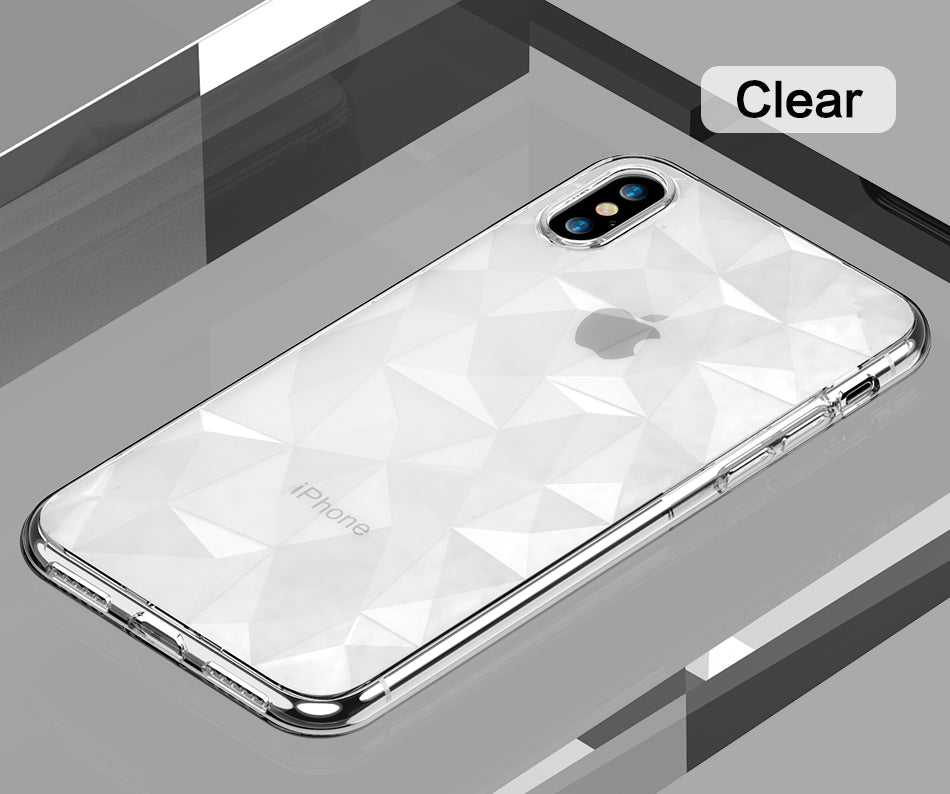 3D Diamond Case for iPhone X