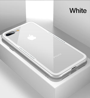 Lux Glass Case for iPhone 8/8 Plus (With Screen Protector!)