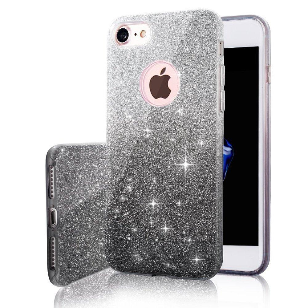 size 40 3611b d146d Clear Glitter Iphone Case for iPhone 7/7 Plus