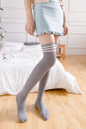 Show Girl - Rhinestones Socks