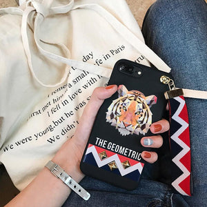 Geometric Animal IPhone Case for iPhone 6/6s Plus - With Wrist Strap!