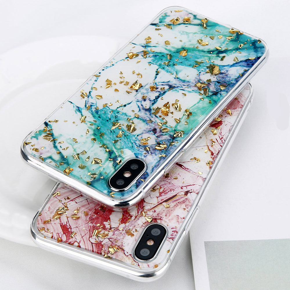 Gold Flake Marble Case for iPhone X
