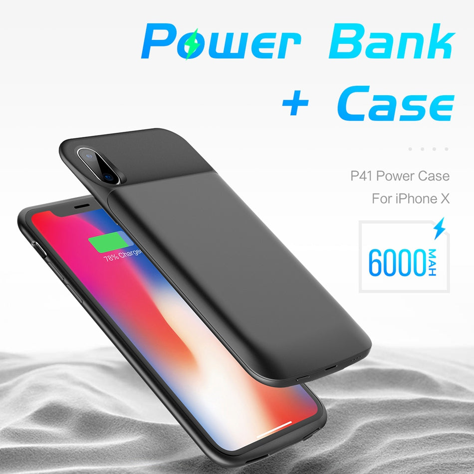6000mAh Power Bank Case for iPhone X
