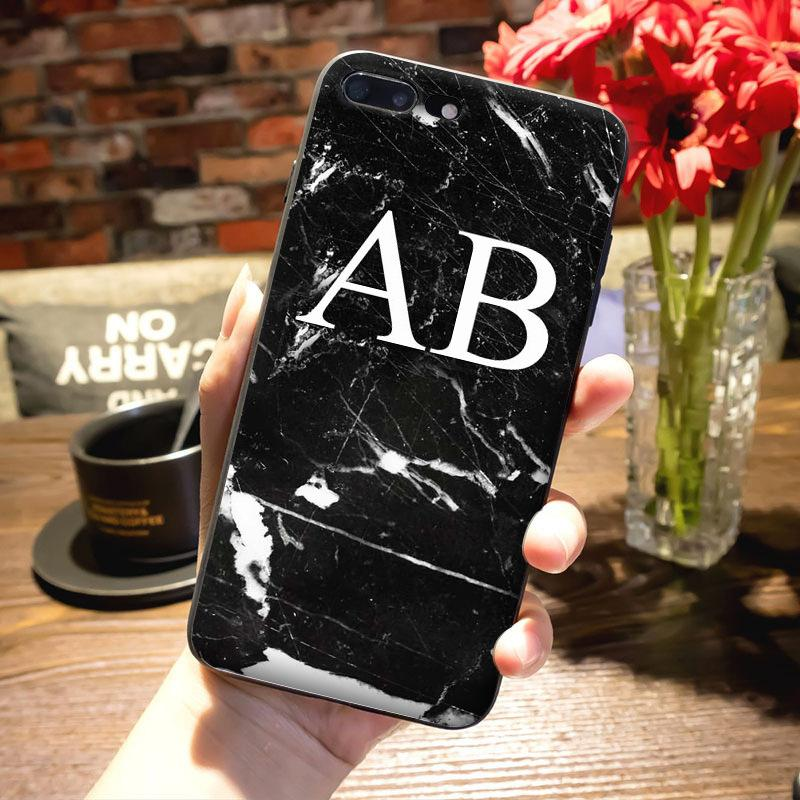 Monogram Marble Case for iPhone 6/6s
