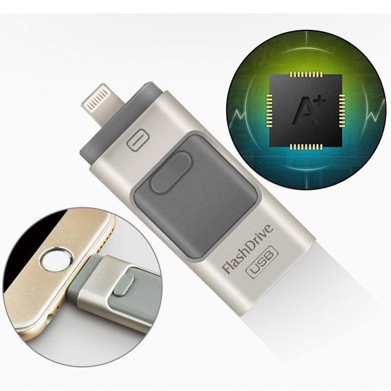 iphone memory extender 3 in 1 usb drive for iphone. Black Bedroom Furniture Sets. Home Design Ideas
