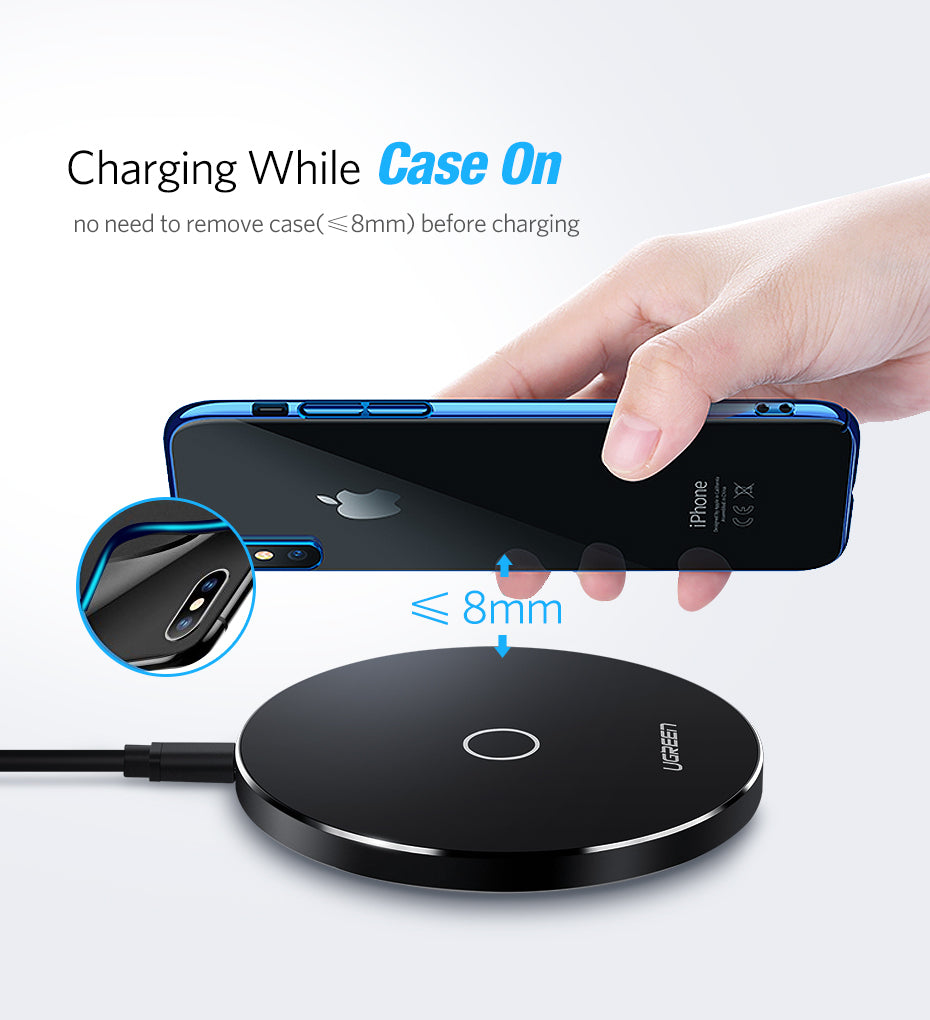 Wireless Charger for iPhone & Samsung