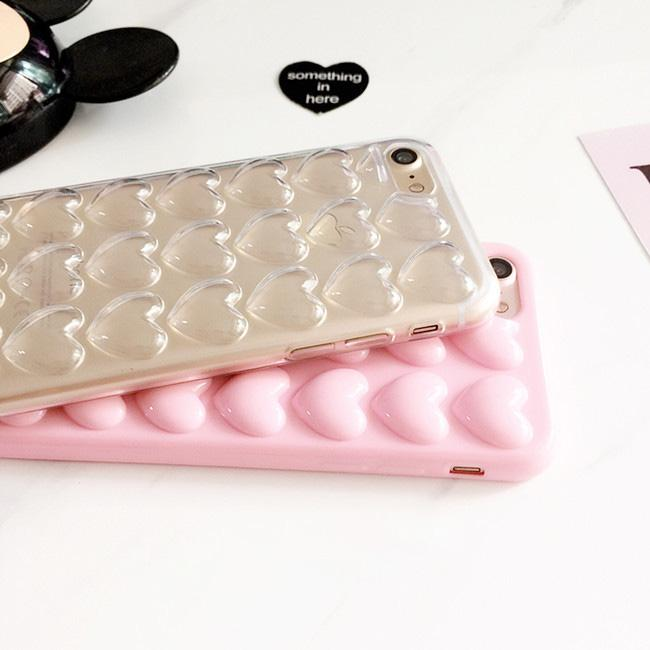 3D Heart Case with Strap for iPhone 8 & 8 Plus