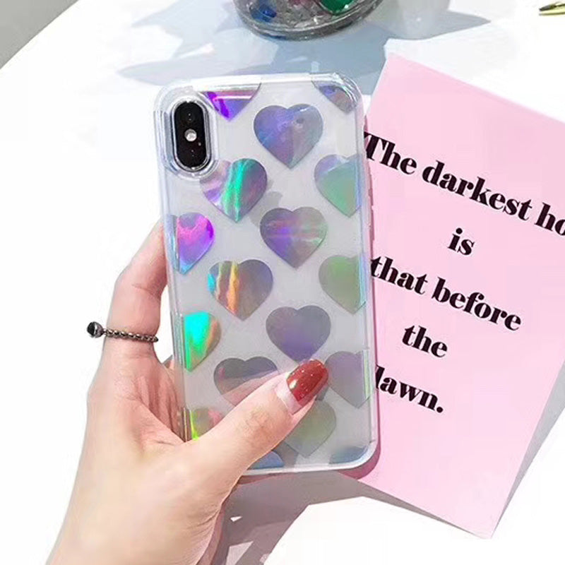 Holographic Heart Case for iPhone X
