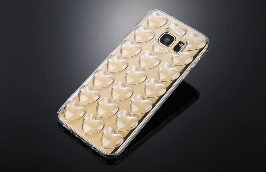 3D Heart Case with Strap for Samsung S7 & S7 Edge