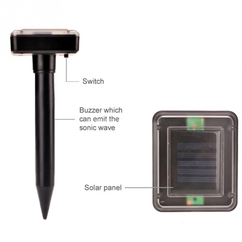 Solar powered pest repeller