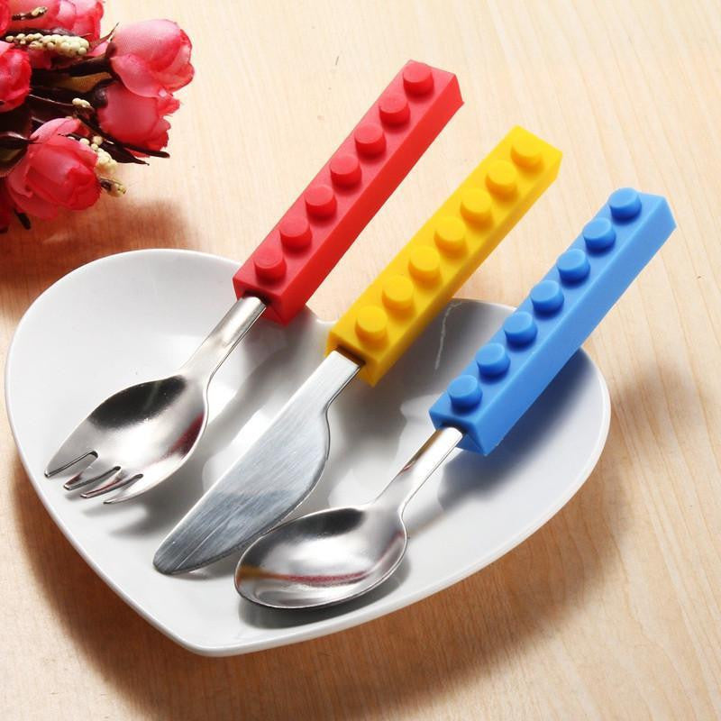 Brick Shape Stackable Cutlery Set