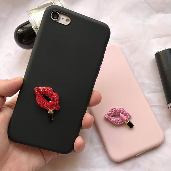 Crystal Lip Case for iPhone 8/8 Plus