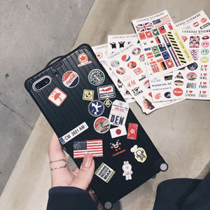 meet 8a63b 9674a Suitcase iPhone Case - With Stickers!
