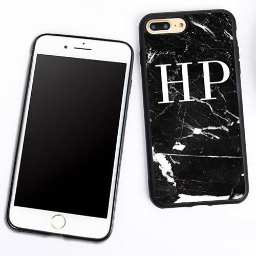 Monogram Marble Case for iPhone X