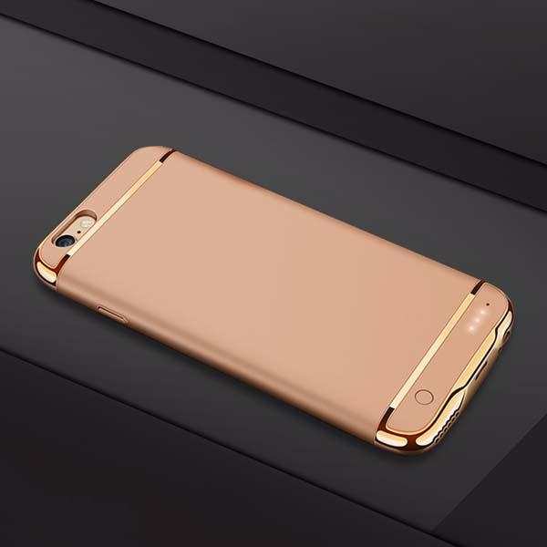 Ultra Slim Battery Case with Golden Inserts for iPhone 7/7 Plus