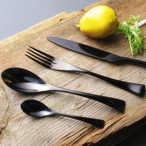 Jet Black Cutlery Set