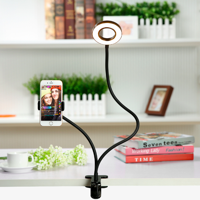 Flexible Phone Clamp Ring Light