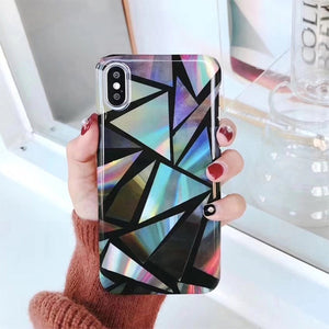 Geometric Opal Case for iPhone X