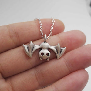 Halloween Bat Necklace Vampire Jewelry Goth