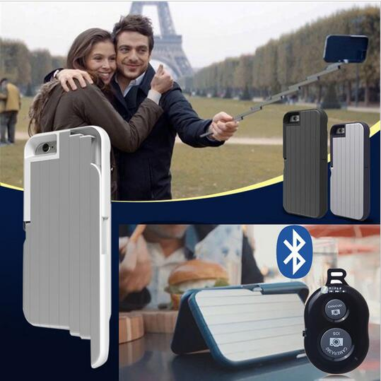3 in 1 Selfie Stick Phone Case for iPhone 6/7 + Bluetooth