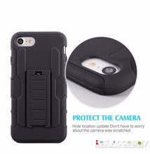 Badass Shockproof Stand Armor Case For iPhone